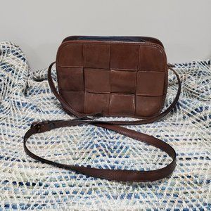 Paradox Woven Faux Leather Shoulder Bag